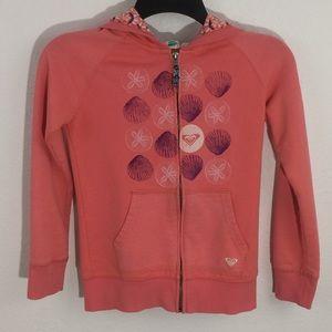 Roxy Girl Full Zip Hoodie Sweatshirt